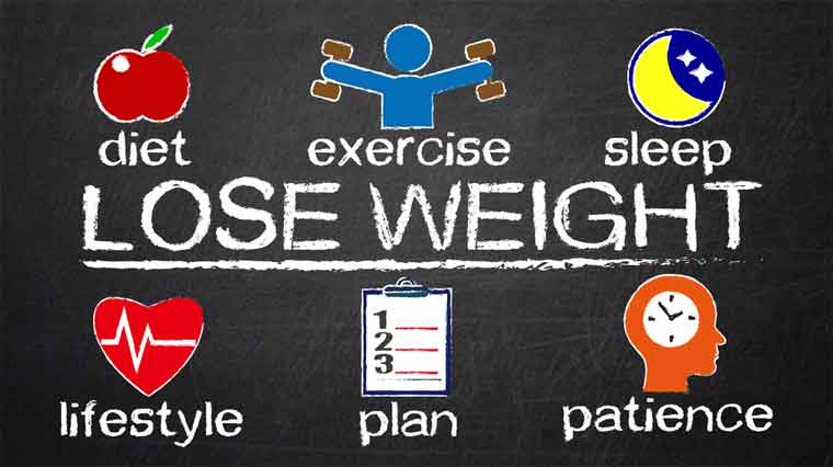 when losing weight
