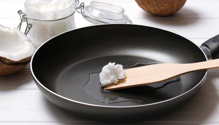 Use The Coconut Oil For Cooking