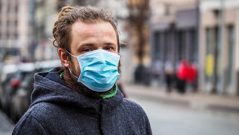 How can you clean a pollution mask