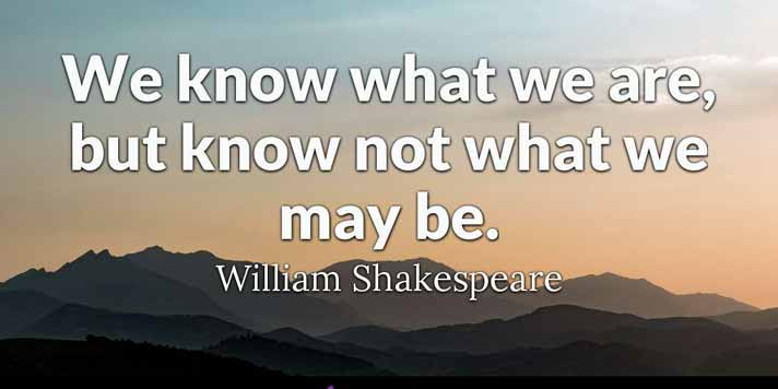 What are Some Famous Quotes from Shakespeare