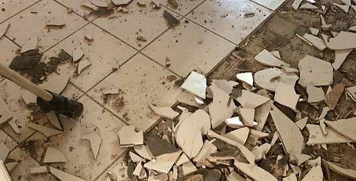 How to Remove Tile from Terrazzo Floor