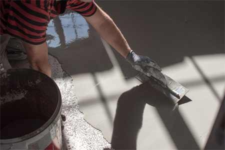 Self-leveling Concrete Work: